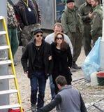 Angelina Jolie et Brad Pitt Photographie stock