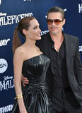 Angelina Jolie et Brad Pitt Photos stock