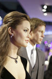 Angelina jolie and her husband brad pitt wax figure Royalty Free Stock Photography