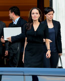 Angelina Jolie leaves the Greek Prime minister's office in Athen Stock Images