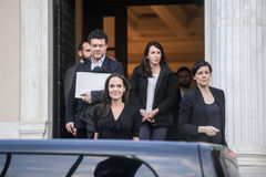 Angelina Jolie leaves the Greek Prime minister's office in Athen Stock Image