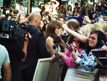 Angelina Jolie At Salt Premiere Stock Image