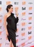 Angelina Jolie World Premiere of `First They Killed My Father` at Toronto International Film Festival. Angelina Jolie waving at fans at the Premiere of Netflix`s Stock Photo