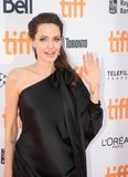 Angelina Jolie World Premiere of `First They Killed My Father` at Toronto International Film Festival. Angelina Jolie waving at fans at the Premiere of Netflix`s Stock Photography