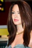 Angelina Jolie wax figure stock image