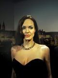 Angelina Jolie Pitt, Hollywood Celebrities. An American actress, filmmaker, and humanitarian - Angelina Jolie Pitt, Hollywood celebrity in Museum Prague, 2015 Stock Photo