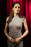 Angelina Jolie wax statue. Waxwork statue of Angelina Jolie in the Madame Tussauds Museum from Amsterdam, Netherlands stock photography