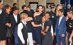 Angelina Jolie World Premiere do ` primeiramente mataram meu ` do pai no festival de cinema do International de Toronto imagem de stock