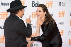 Angelina Jolie World Premiere van ` doodden zij eerst Mijn Vader ` bij Internationaal de Filmfestival van Toronto stock foto