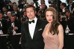 Angelina Jolie y Brad Pitt Imagenes de archivo
