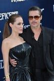 Angelina Jolie y Brad Pitt Fotos de archivo libres de regalías