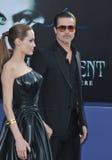 Angelina Jolie y Brad Pitt Imagen de archivo