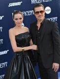 Angelina Jolie y Brad Pitt Foto de archivo