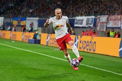 Free Angelino During The Match Leipzig Vs Tottenham At Leipzig Arena Before Stock Photos - 189477333