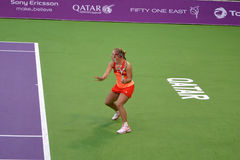 Angelique Kerber. DOHA-QATAR: FEBRUARY 14: Tennis Player Angelique Kerber at Qatar Total Open on February 14, 2012 in Doha, Qatar. The event was held from royalty free stock photos