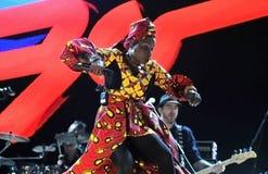 Angelique Kidjo - τραγουδιστής Στοκ φωτογραφία με δικαίωμα ελεύθερης χρήσης