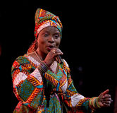 Angelique Kidjo performs live on 28th April Jazz Royalty Free Stock Photo