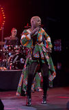 Angelique Kidjo performs live on 28th April Jazz Royalty Free Stock Photos