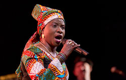 Angelique Kidjo performs live on 28th April Jazz Royalty Free Stock Images