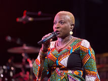 Angelique Kidjo performs live on 28th April Jazz Stock Image