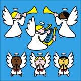 angelitos голубые иллюстрация вектора
