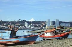 angelm αλιεία της Χιλής βαρκών Στοκ Εικόνες