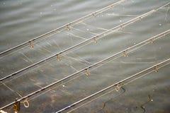 Angeln mit Spinnennetz Lizenzfreie Stockbilder