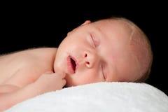 Angelo appena nato di sonno Immagine Stock Libera da Diritti