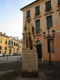 Angelo Beolco. Statue of Angelo Beolco, the Ruzante, Paduan playwright and performer royalty free stock photography