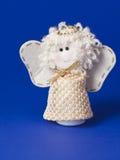 Angelo bianco del giocattolo Fotografia Stock
