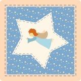 Angelo blu con le stelle Fotografia Stock