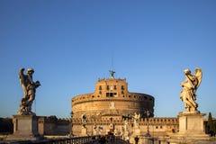 ` Angelo Bridge de Sant et ` Angelo Castel, Rome de Sant Images libres de droits