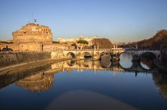 ` Angelo Bridge de Sant et ` Angelo Castel, Rome de Sant Photos libres de droits