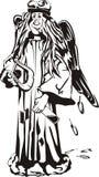 Angelo caduto - il nero & bianco Royalty Illustrazione gratis