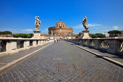 Angelo castel Ρώμη sant στον τρόπο Στοκ φωτογραφία με δικαίωμα ελεύθερης χρήσης