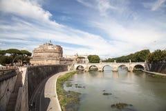 Angelo castel Ρώμη sant Στοκ Εικόνες