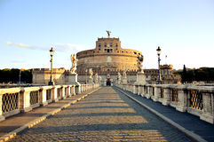 angelo castel Italy Rome sant Obrazy Stock