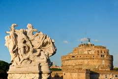 angelo castel italy sant rome Arkivfoto