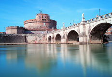 Angelo Castel - Rom, Italien Stockbild