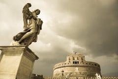 ` Angelo Castel Sant'Angelo Sant Стоковое Изображение