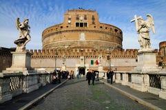 angelo castel sant rome Royaltyfri Bild