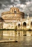 angelo castel sant rome Royaltyfria Bilder