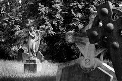 Angelo in cimitero Immagini Stock Libere da Diritti