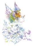 Angelo con l'illustrazione dell'acquerello delle ali Immagine Stock Libera da Diritti