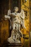 Angelo con l'iscrizione Fotografia Stock