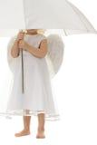 Angelo con l'ombrello Fotografia Stock Libera da Diritti