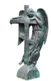 Angelo con la traversa. Pietra tombale. Fotografia Stock