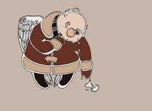 Angelo con un giocattolo dell'pelliccia-albero Royalty Illustrazione gratis