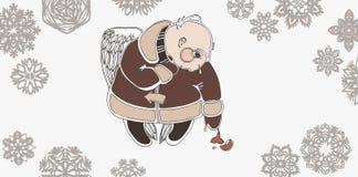 Angelo con un giocattolo dell'pelliccia-albero Illustrazione Vettoriale