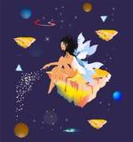 Angelo cosmico, royalty illustrazione gratis